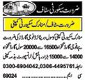 Security Staff Required In Lahore, Punjab