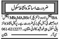 Teaching Staff Wanted For School In Multan, Punjab