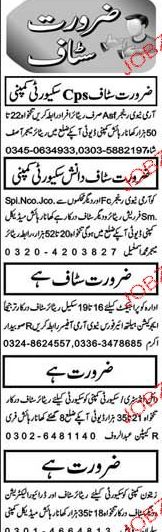 Security Guards, Electricians Job Opportunity