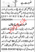 Clerks, Drivers, Chawkidars, Telephone Operators Wanted