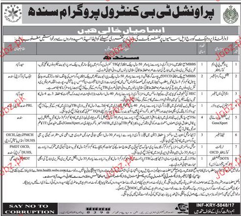 Provincial TB Control Program Sindh Jobs