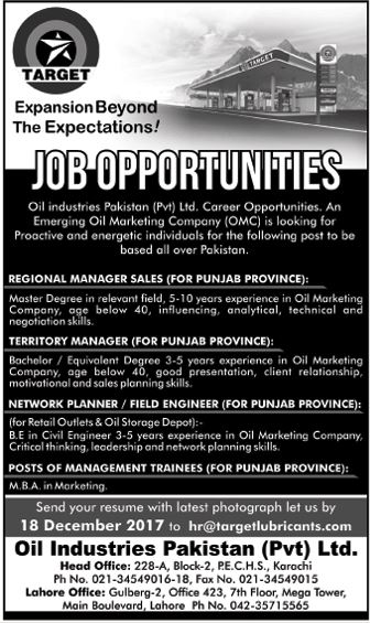 Regional Sales Manager, Territory Manager & Field Engineers