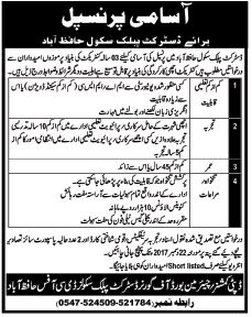 Principal required in DPS School Hafizabad