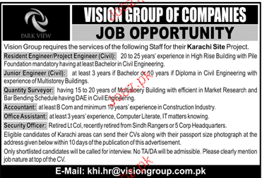 Vision Group of Companies   Jobs