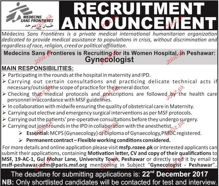 Female Gynecologists Jobs