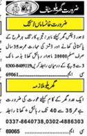 House Staff Wanted In Lahore, Pakistan