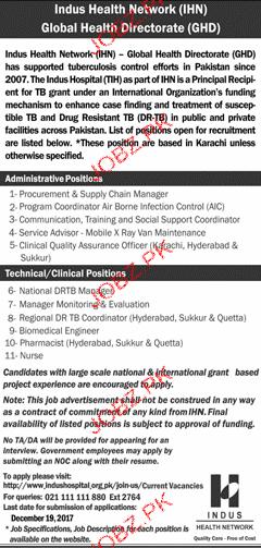 Indus Health Network IHN Jobs