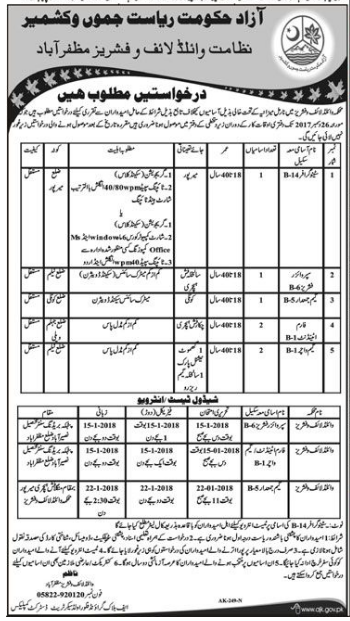 Stenographer, Supervisor & Labor Staff Jobs 2017