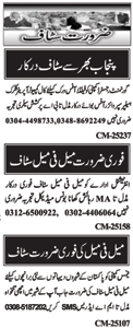 Male & Female Staff Jobs at Islamabad