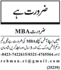 Office Staff Jobs at Lahore