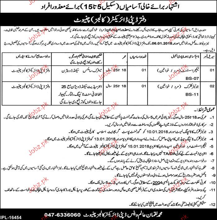 Education Department Colleges Department Jobs