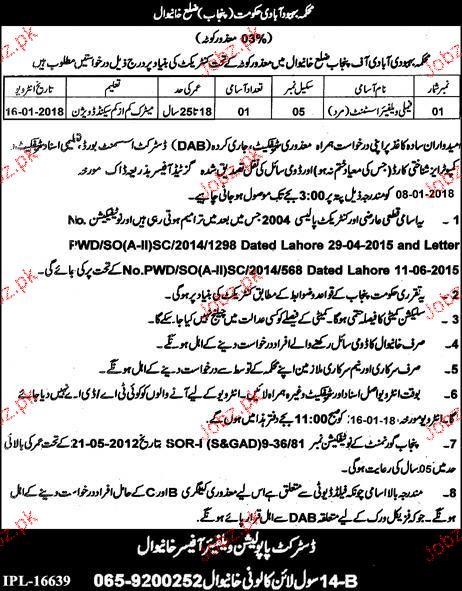 Population Welfare Department District Khanewal  Jobs
