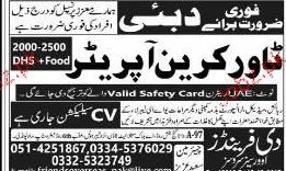 Tower Crane Operators Job Opportunity