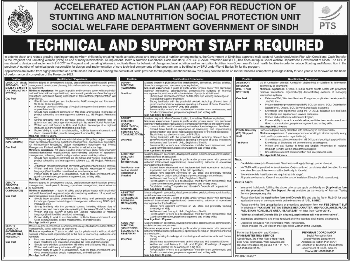 Director, Deputy Director & Private Secretary Jobs