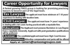 Career Opportunity for Lawyers