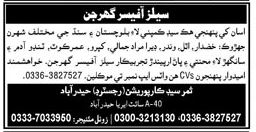 Sales Officer Jobs Opportunity at Hyderabad