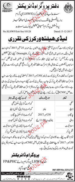 Family Planning and Primary Healthcare Department Jobs