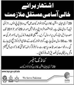 Army Aviation required Civilian Staff Gujranwala