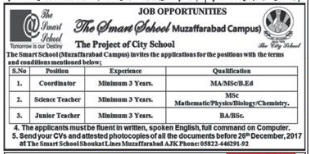 Teacher & Coordinator Jobs in AJK