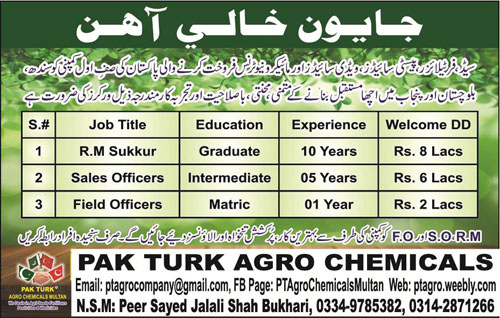 Regional Manager, Sales Officers & Field Officers Jobs