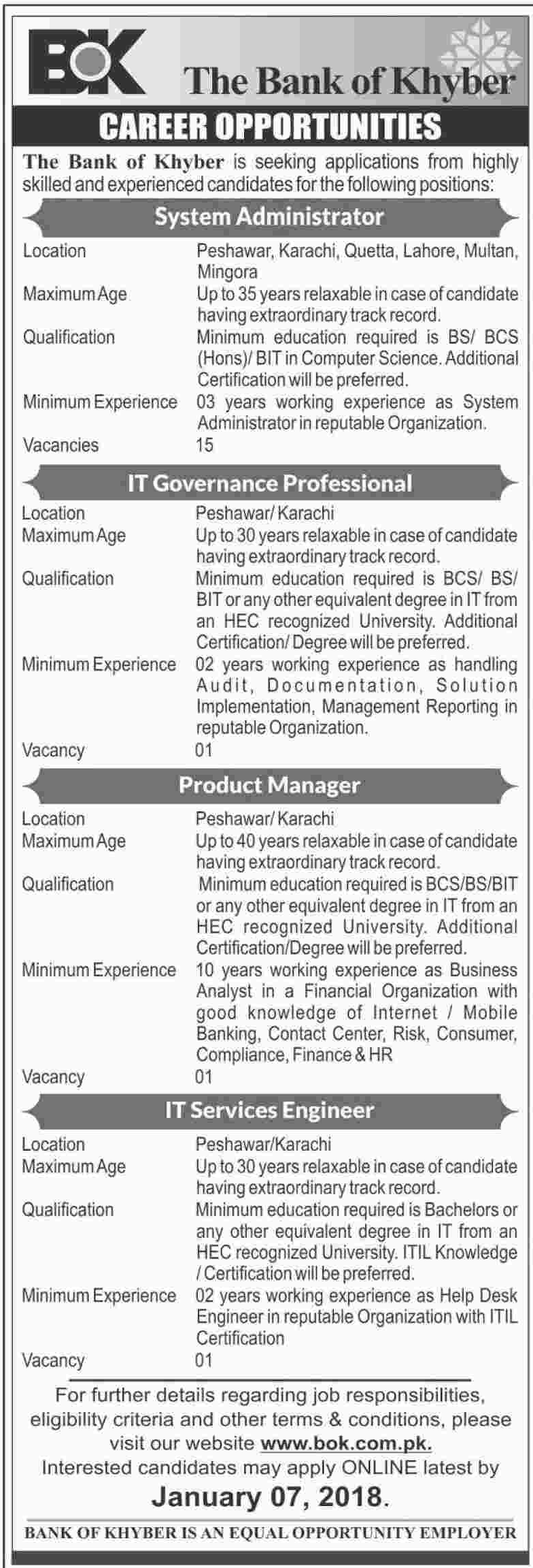 Bok bank it manager jobs 2018 2018 jobs pakistan jobz bok bank it manager jobs 2018 xflitez Choice Image