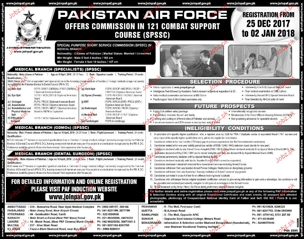 Join Pakistan Air Force PAF Through Service Commission