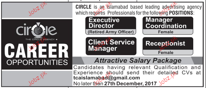 Manager Coordination, Executive Director Job Opportunity
