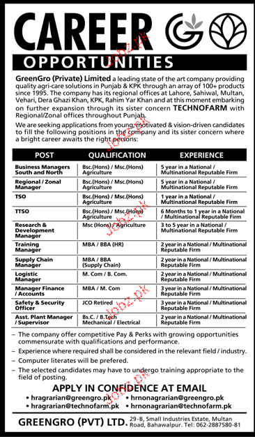 Business Manager, Regional / Zonal Manager Job Opportunity