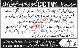 CCTV Camera Operators and Security Guards Job Opportunity