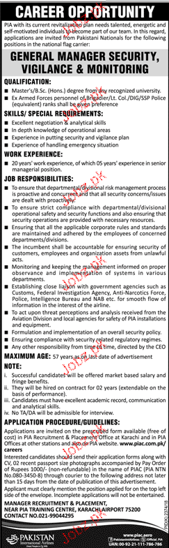 Pakistan International Airlines PIA Jobs