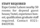 Hotel Staff Jobs Opportunity 2018