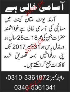 Masalchis Job in Pakistan Army
