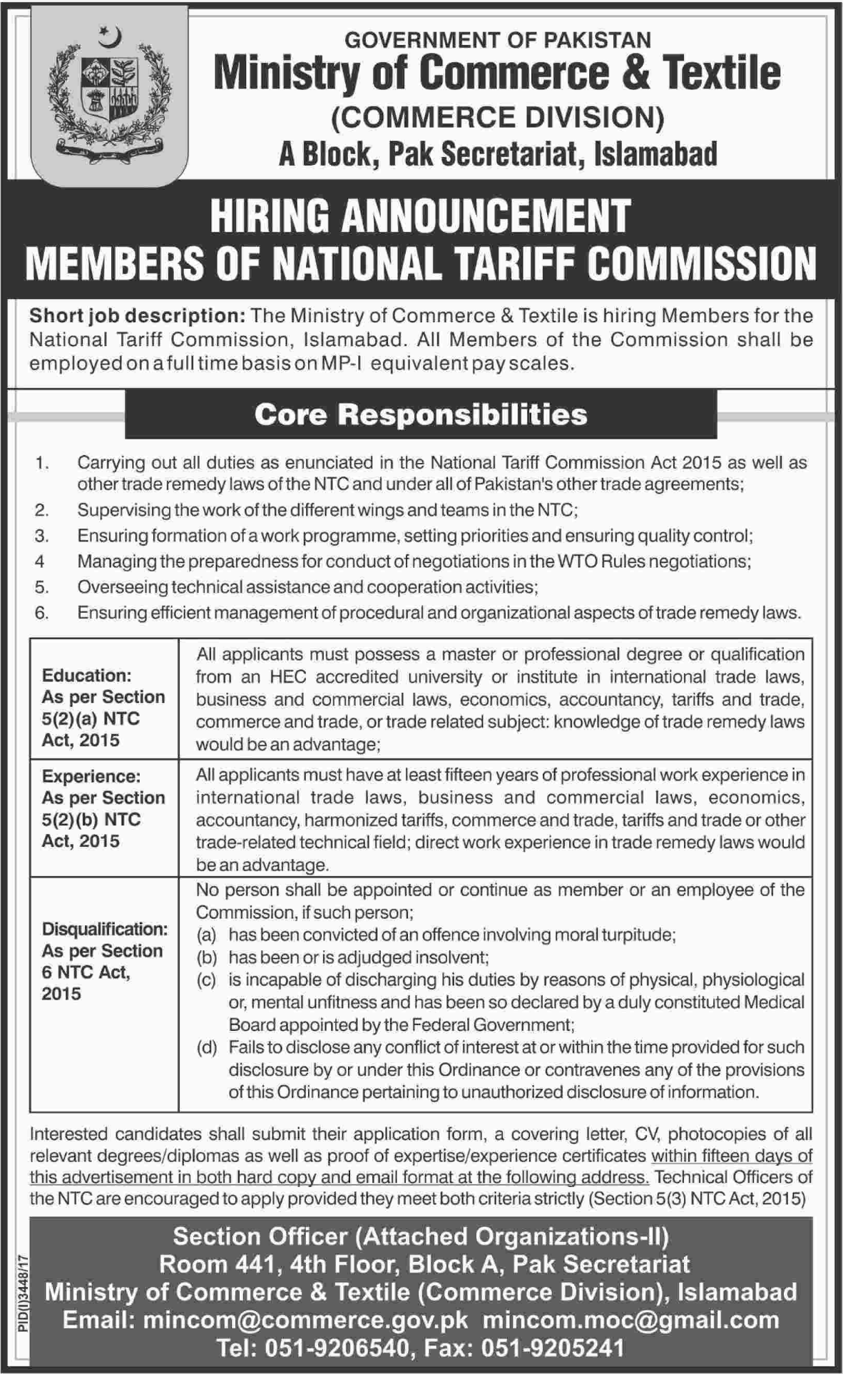 Commerce division hiring members of ntc 2018 jobs pakistan commerce division hiring members of ntc thecheapjerseys Gallery