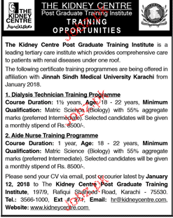 Dialysis Technicians and Aide Nurse Job Opportunity
