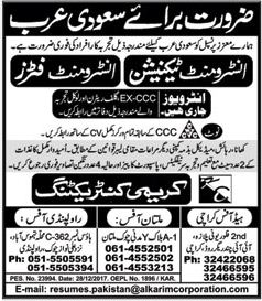 Instrument Technician & Instrument Fitter Jobs 2018