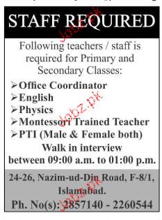 Office Coordinators, Teachers Job Opportunity