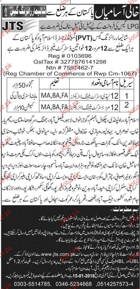 Shalimar Rising Gas Pvt Limited Jobs