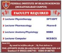 Federal Institute of Health Sciences FIHS Lecturer Jobs AJK