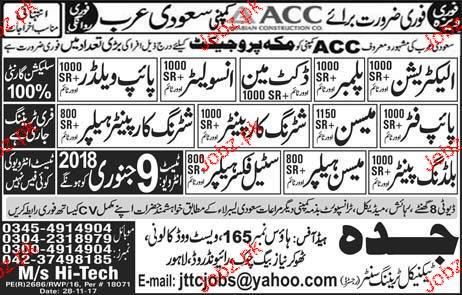Electricians, Pipe Fitters, Mason, Pipe Welders Wanted