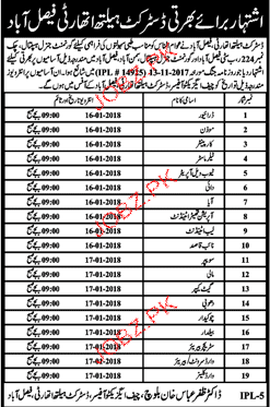 District Health Authority District Faisalabad Jobs