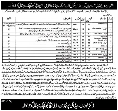 Accountant & Warden Jobs in DHQ Teaching Hospital