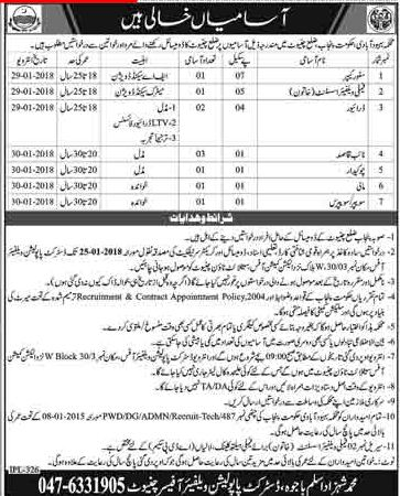 Family Welfare Assistant & Driver Jobs in PWD Department