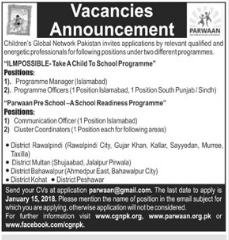 Childeren Global Network Pakistan Required Programm Manager