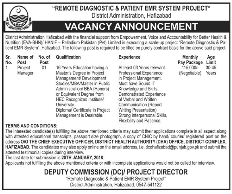 Remote Diagnostic & Patient EMR System Project Jobs 2018