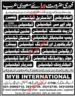 Electricians, Industrial Technicians, Plumbers Wanted