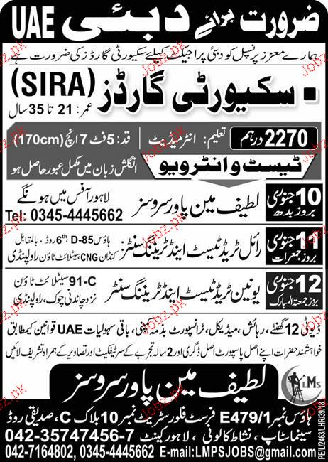 Security Guards Job Opportunity