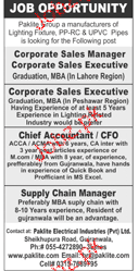 Corporate Sales Manager, Chief Accountant Job Opportunity