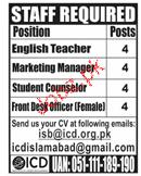 English Teachers, Marketing Manager  Job Opportunity