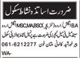 Male & Female Teacher wanted in Multan
