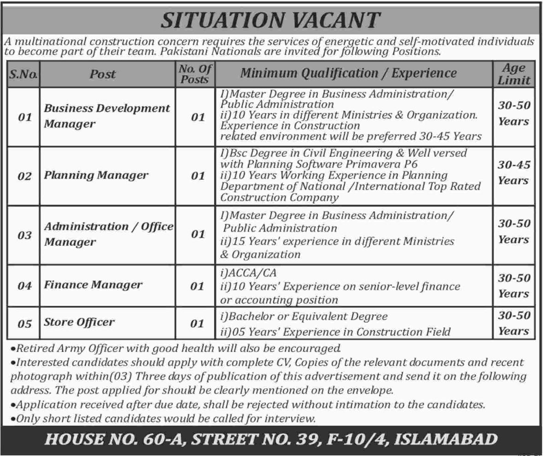 Business Development Manager & Finance Manager Jobs